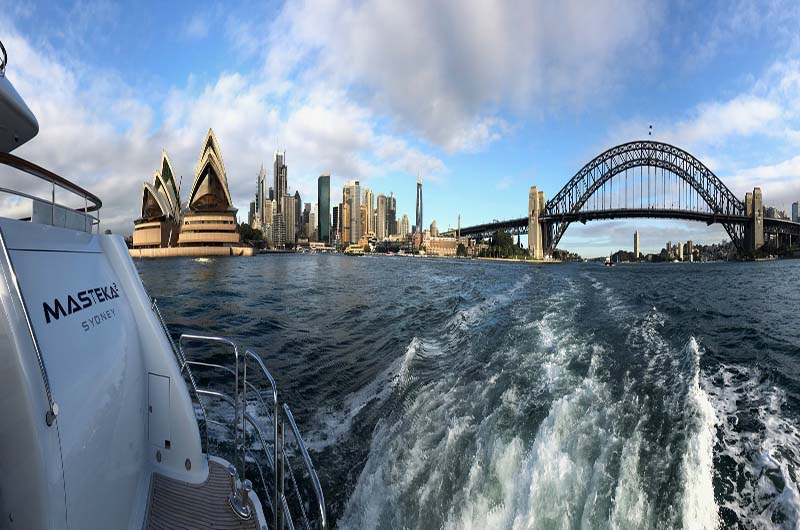 Carrying out a successful sea trial on the beautiful Sydney Harbour